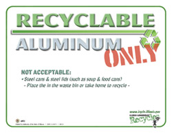 Recyclable Aluminum Only