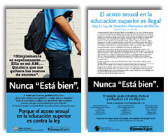 Sexual Harassment Poster in Spanish (2)