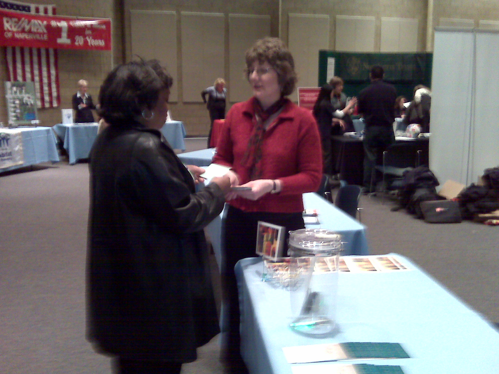 attendee (left) and Marion Honel (right)