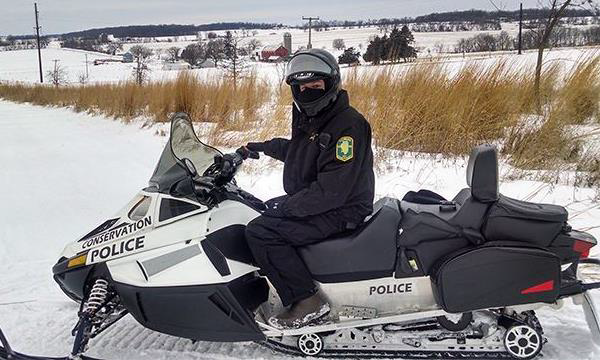 CPO Serving and Protecting in Rain or Snow