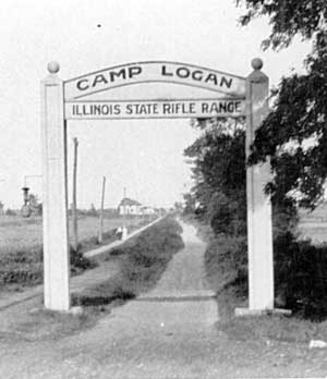Main Gate at Camp Logan