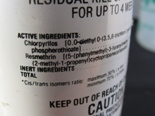 Warning label on wasp pesticide