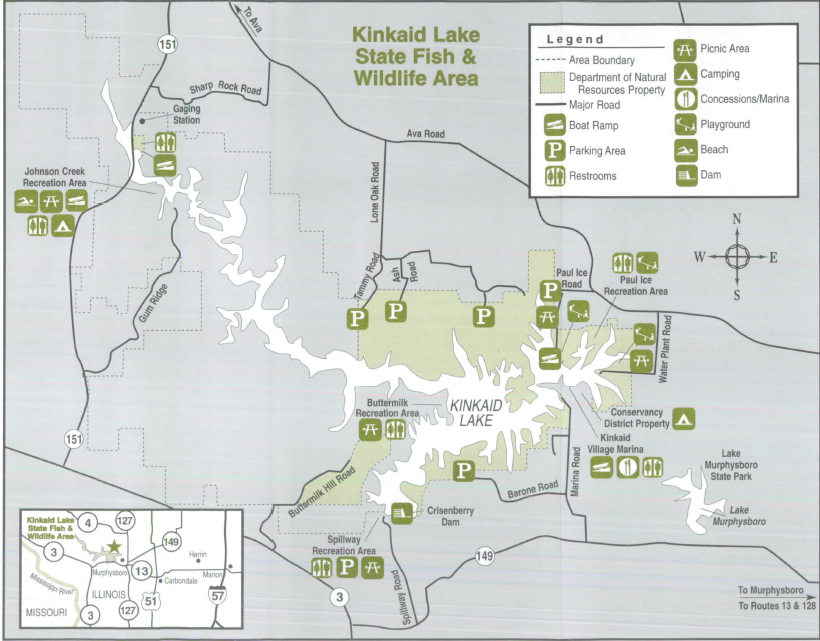 Kincaid Lake Site Map