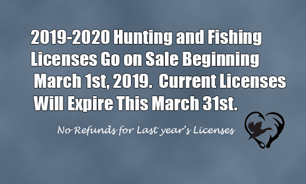 Reminder to Get Your Fishing License