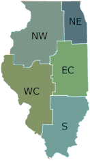 Map of Illinois DNR Regions