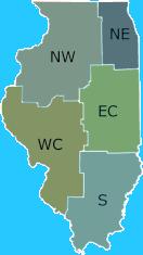 Map of Illinois DNR Regions