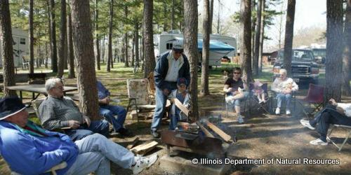 Reserve a campsite or cabin at one of Illinois' many state parks.