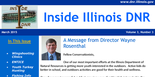 Subcribe to Inside Illinois DNR-Monthly Newsletter