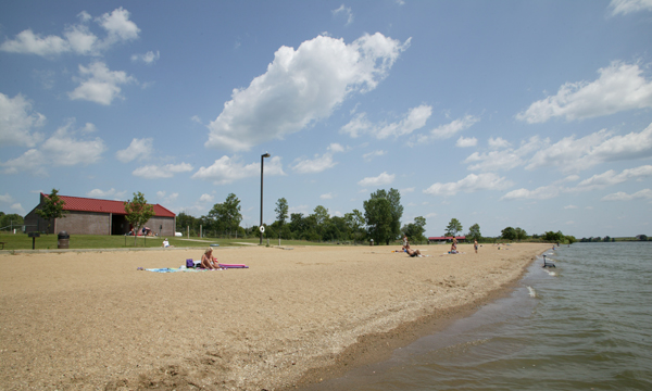 Clinton Lake Beach