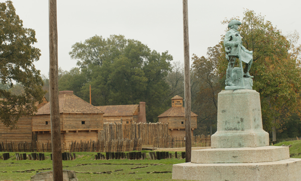 Fort and George Clark Statue