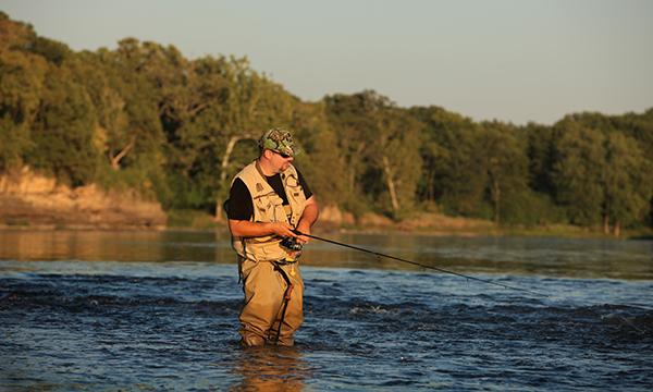 Fishing Kankakee River