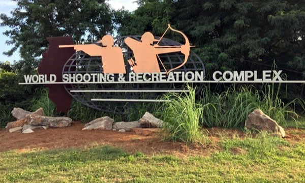 World Shooting & Recreation Complex Sign