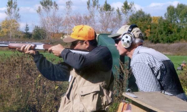 Wingshooting Hunter Clinic Student With Instructor