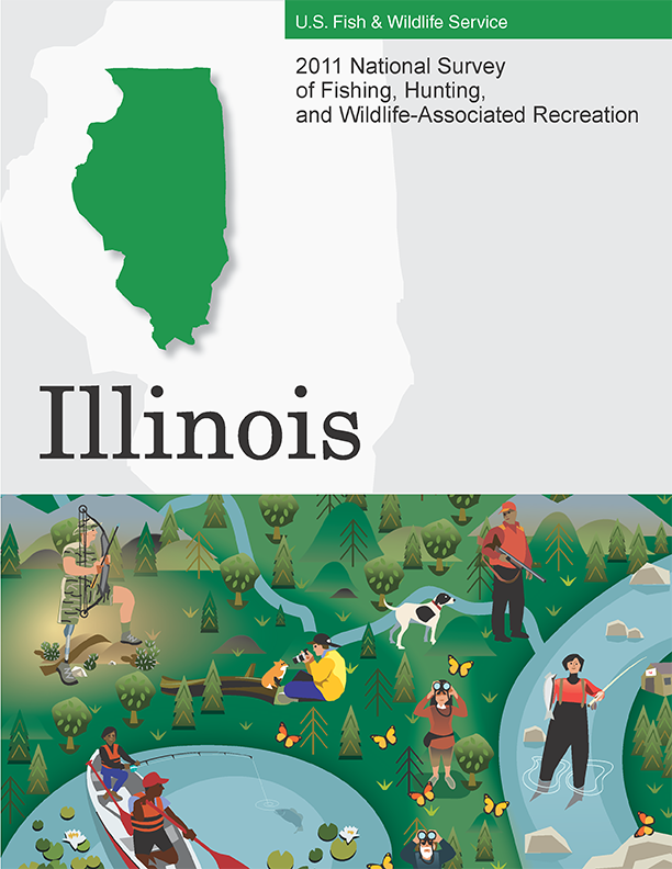 Cover of the 2011 National Survey of Fishing and Hunting - Illinois