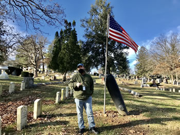 Wakling in Oak Ridge Cemetery