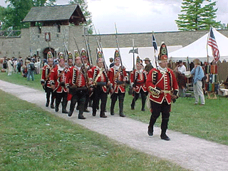 Redcoats arrive at Fort de Chartres