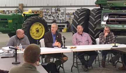 Governor hears from farmers on agricultural advances, community needs