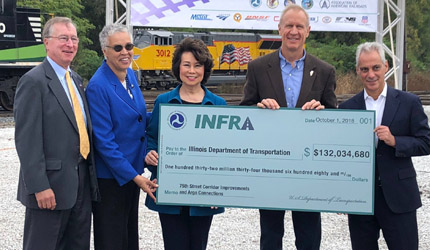 Gov. Rauner, Partners Mark 75th Street Rail Corridor Improvement Project