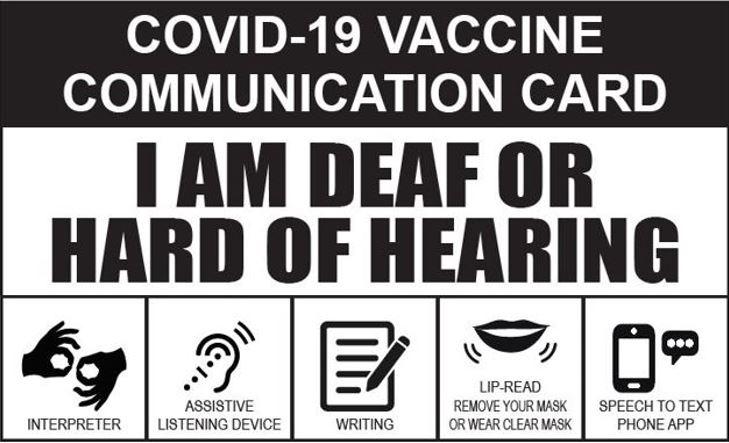 COVID 19 Vaccine Communication Card