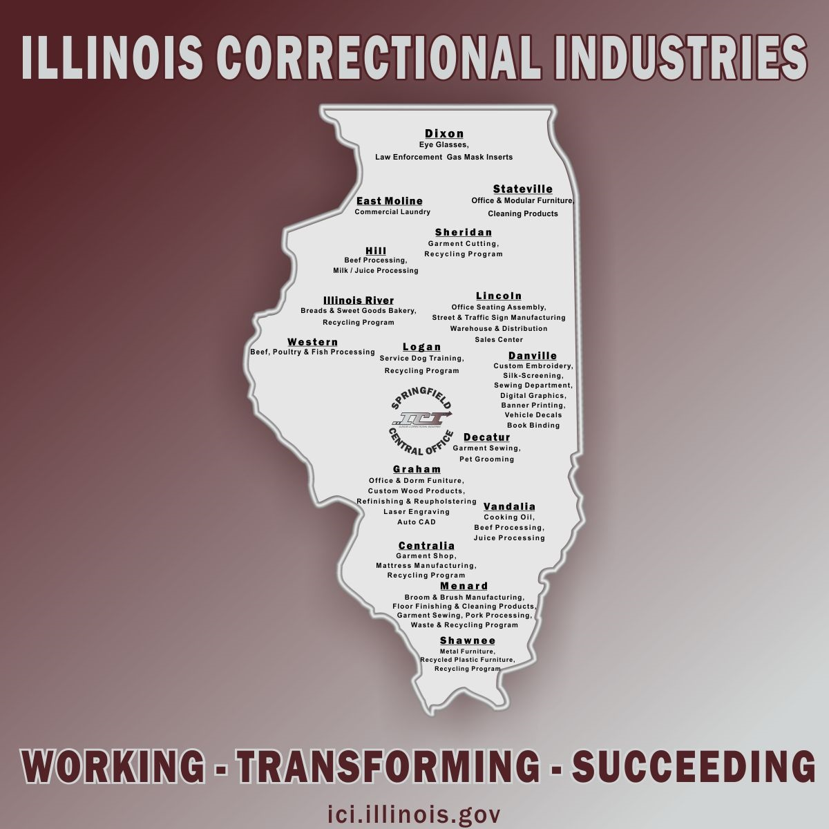 Corrections Industries Map