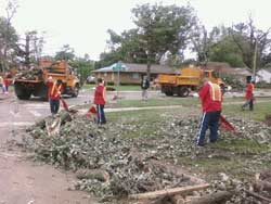 IDOC & IDOT Join Forces with IEMA to Help Clean Up after Devastating Tornadoes