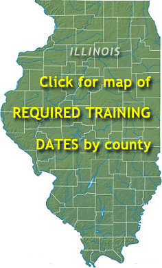 Map of required training dates