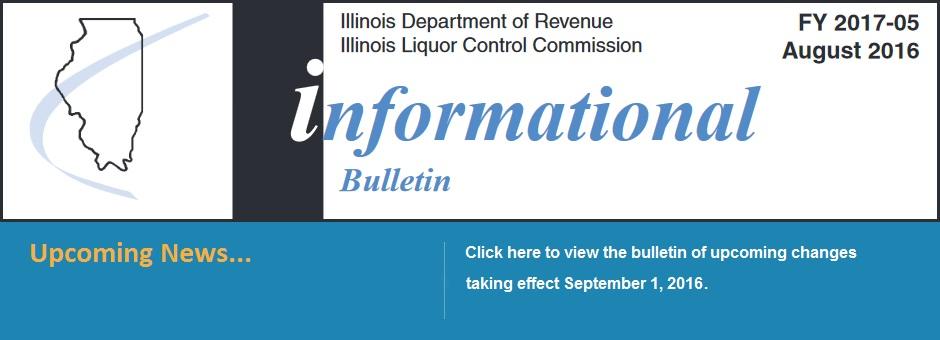 Informational Bulletin - Upcoming News