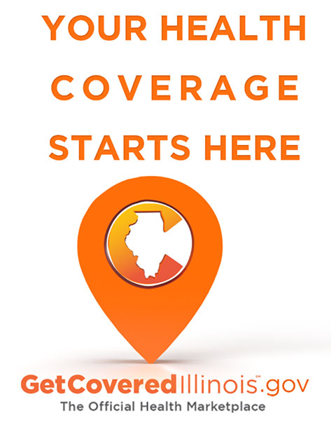 Get Covered Illinois Logo: Your coverage Starts here