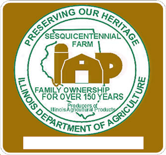 Illinois Sesquicentennial Farms Sign
