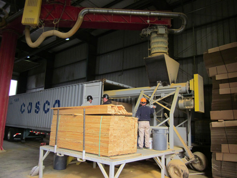 Grain Tour Picture Container Loading.