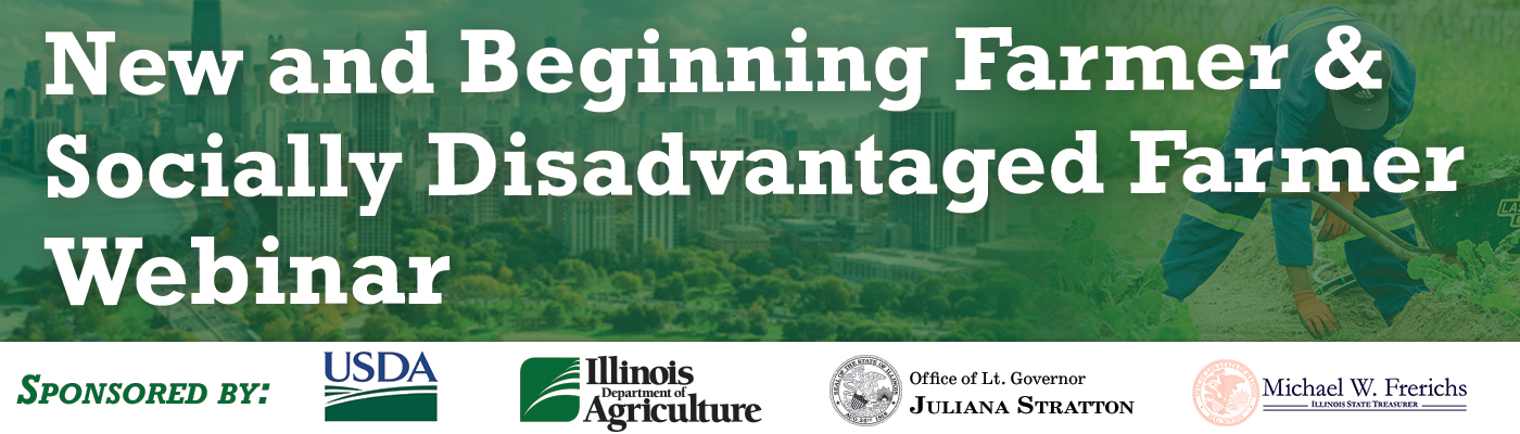 New & Beginning Farmer & Socially disadvantaged Farmer webinar wednesday dec 9, 2020. 10am-noon