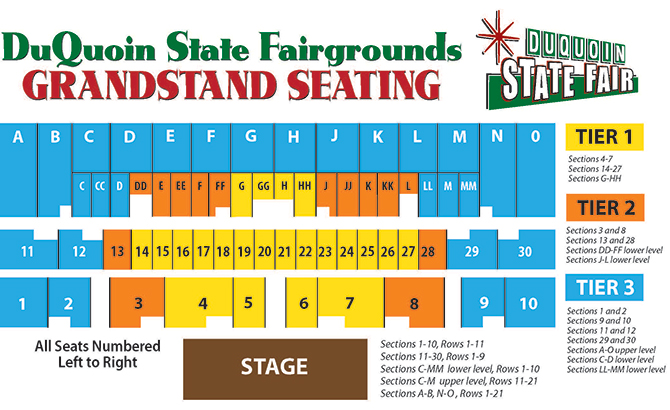 illinois state fair grandstand seating chart
