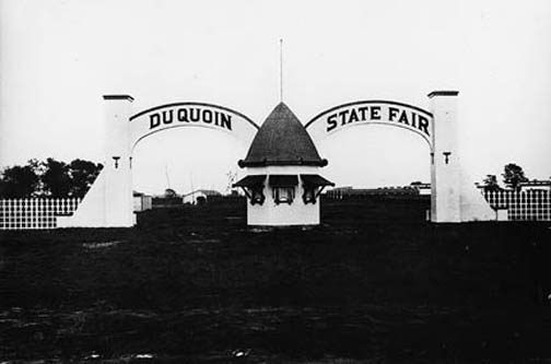 Early Du Quoin State Fair entrance gate