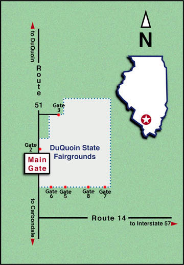 Map to the Fairgrounds