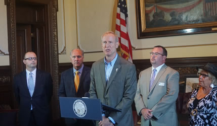 Governor, Local Mayors Urge Passage of Stopgap Budget and Education Funding