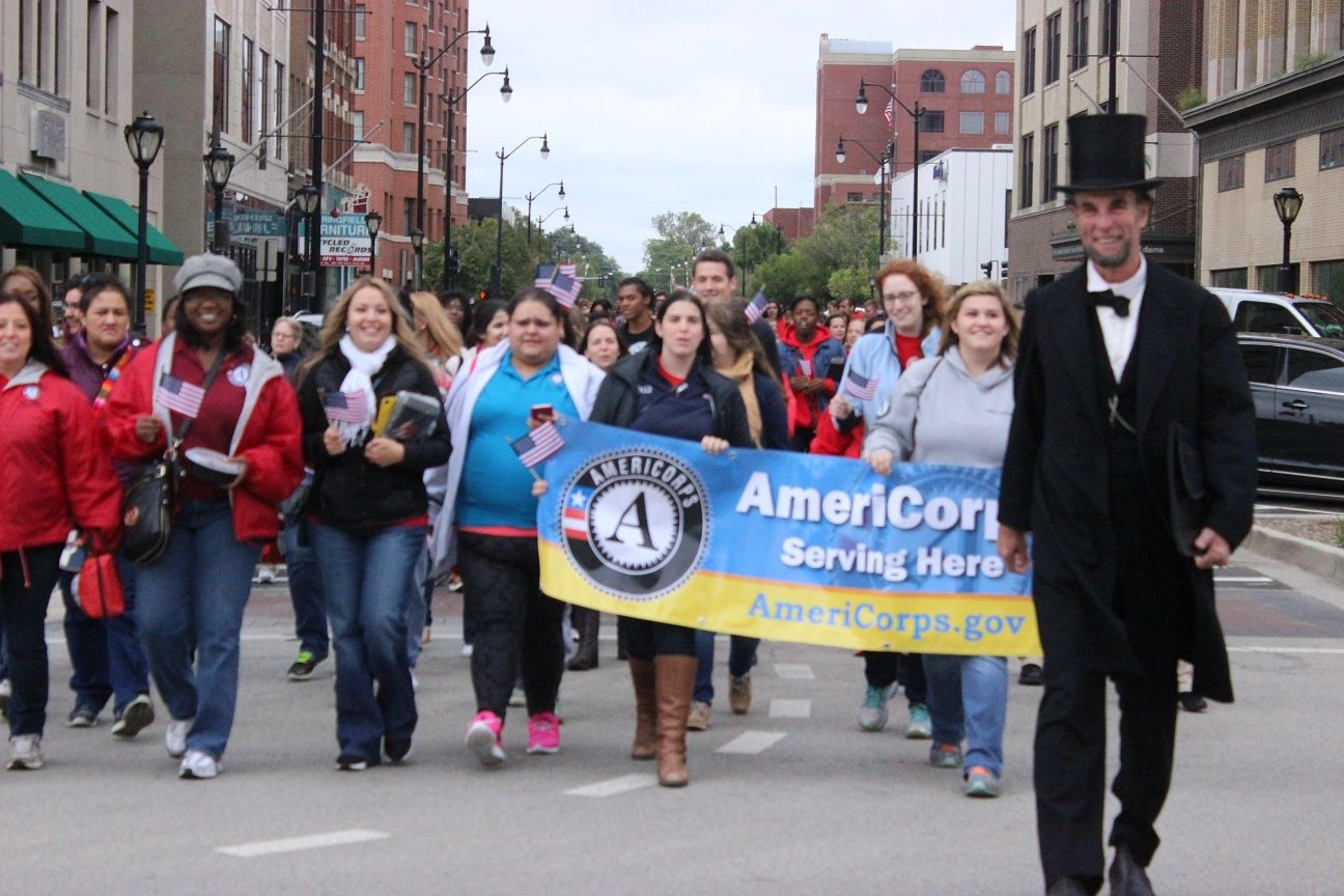 AmeriCorps Parade with President Lincoln