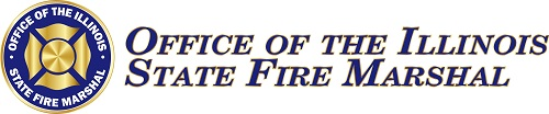 The Illinois State Fire Marshal Logo with Mourning Band