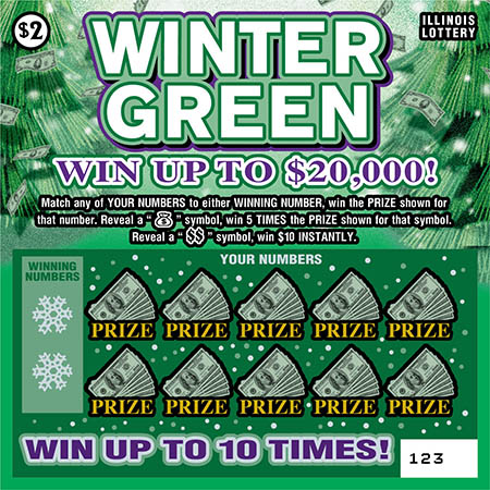 Illinois Lottery Veterans Cash Ticket